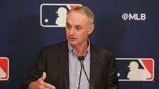 Rob Manfred apologizes for referring to World Series trophy as 'a piece of metal'