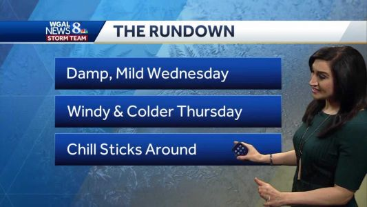 Cold front to bring rain, gusty winds