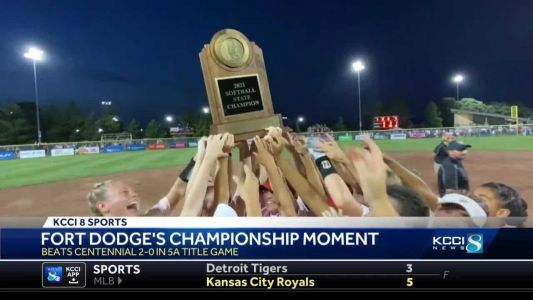 Fort Dodge takes home first state softball championship