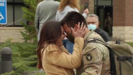 WATCH: More than 100 Iowa National Guard soldiers return to Iowa from Middle East