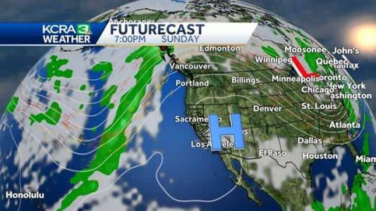 High pressure dominates with sunny & warm weather in Northern California