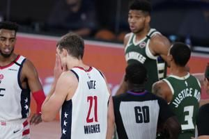 Antetokounmpo suspended for Bucks' finale over headbutt