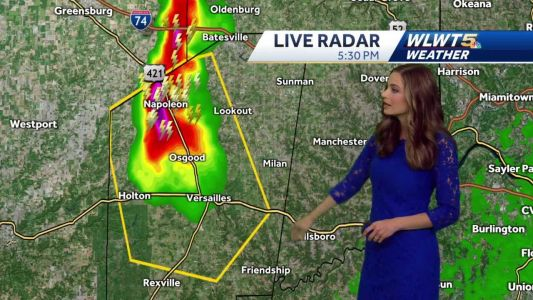 Severe thunderstorm warning for Ripley County, Indiana