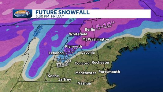 Snow, wintry mix, rain expected Wednesday, Thursday in NH