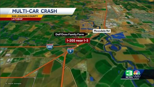 Pedestrian killed in I-205 crash near I-5 connector in Tracy, CHP says