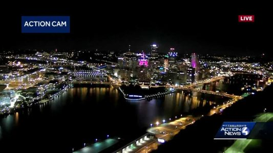 Several Pittsburgh buildings light up in pink for breast cancer awareness