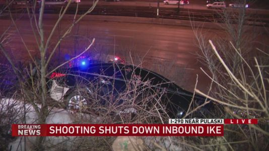 Inbound Eisenhower shut down after man, woman shot on expressway
