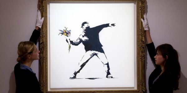 Sotheby's will now accept cryptocurrency, starting with an auction for Banksy's 'Love is in the Air'