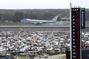 Rain delays Daytona 500 start following Trump's parade lap
