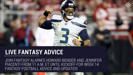 Live Week 14 Fantasy Football Advice: Injury updates, start 'em sit 'em, NFL DFS tips, more