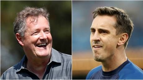 'None of this will work in reality': Piers Morgan rips into Gary Neville's plans for resumption of football season