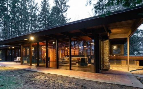 Rare 'midcentury stunner' by Frank Lloyd Wright disciple for sale