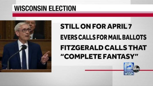 Gov. Tony Evers calls for mail-in ballots