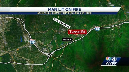 Man lit on fire, Asheville police search for person responsible