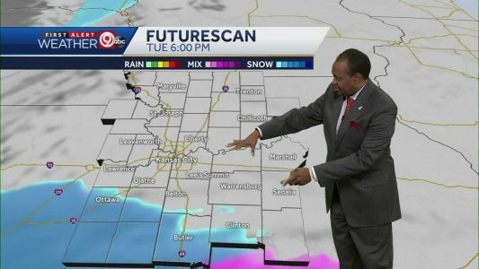 Cold Tuesday with light snow possible in evening