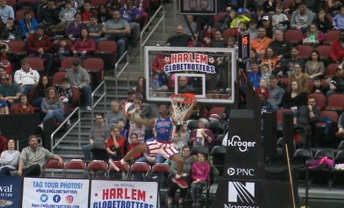 Harlem Globetrotters bring high flying tricks to KFC YUM! Center