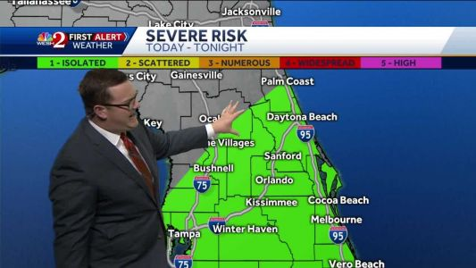 Risk of severe weather Wednesday night
