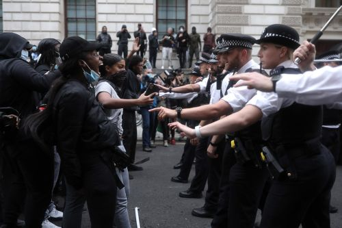George Floyd death: Thousands protest in London
