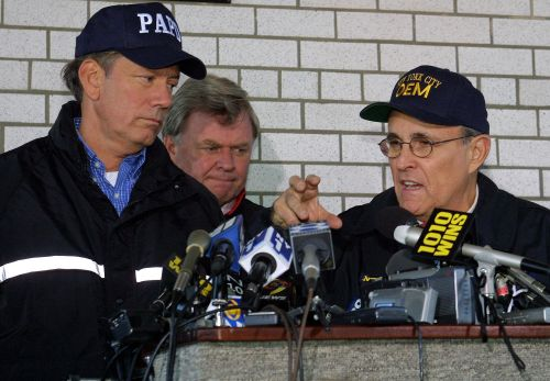Giuliani denies asking Pataki to cancel 2001 election, cries 'It's bulls-t'