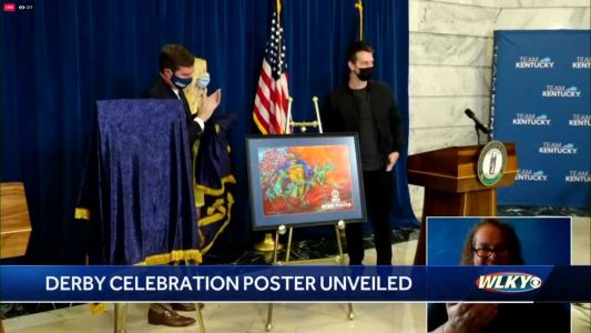 Gov. Beshear unveils colorful 2021 Kentucky Derby celebration poster