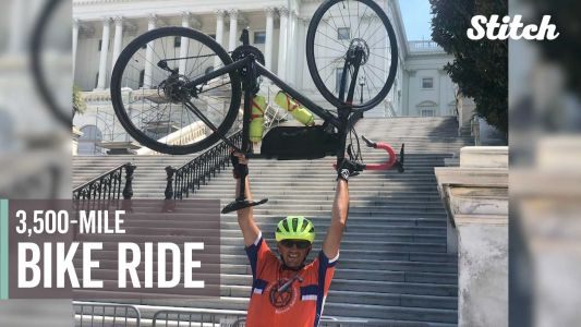 Man overcomes vision loss, bikes 3,500 miles across country