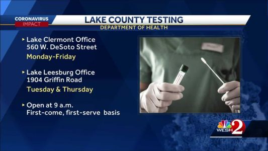 COVID-19 testing available in Lake County