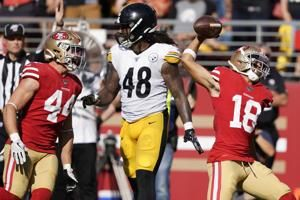 49ers have five turnovers, win anyway, 24-20