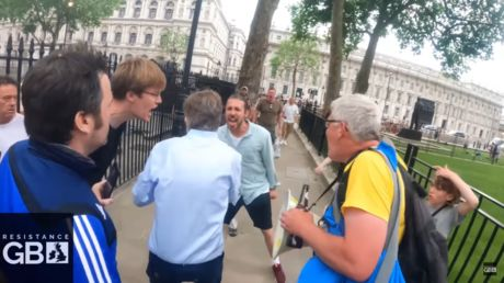'BBC stooge' heckled & chased by anti-lockdown protesters in Westminster in harrowing VIDEO
