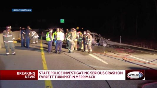 Emergency crews respond to serious crash on Everett Turnpike
