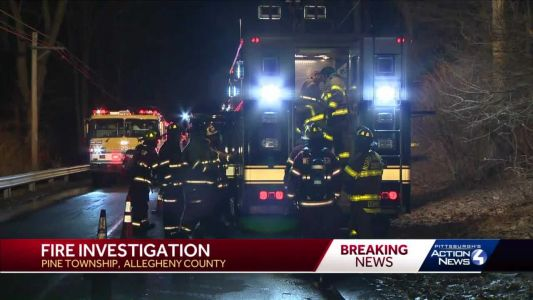 Firefighters on scene of house fire in Pine Township