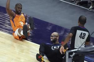 Suns stay in hunt for NBA's top record, beat Knicks 128-105