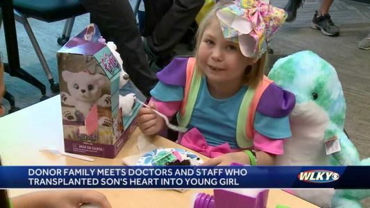 Family reunites with girl saved by son's heart, meet doctors who made it possible