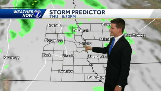 More clouds Thursday afternoon, spot shower possible tonight