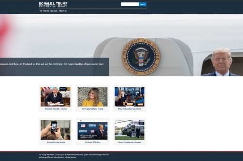 National Archives launches website for Trump Presidential Library