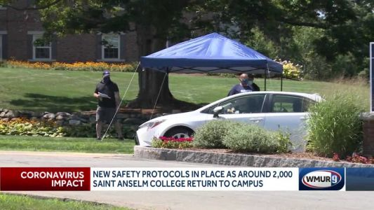 New safety protocols in place as Saint Anselm College students begin returning to campus
