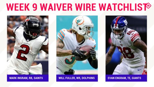 Fantasy Football Waiver Wire Watchlist for Week 9: Streaming targets, free agent sleepers include Mark Ingram, Will Fuller, Evan Engram