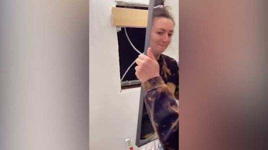 VIDEO: New York City renter finds hidden apartment behind mirror