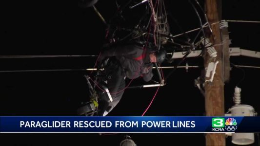 Paraglider rescued after crashing into power lines near Yuba County Airport