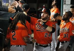 No relief: Orioles score late of Rangers pen in 6-1 victory