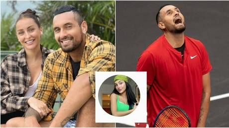 'Didn't know he had girl in his bed': Kyrgios girlfriend shares toxic text exchange after row over 'naked' photo