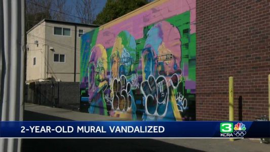 2-year-old Sacramento mural vandalized