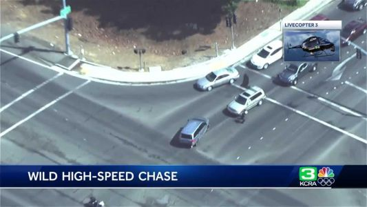 AERIAL VIDEO: Suspect taken into custody after high-speed chase ends in Yuba City