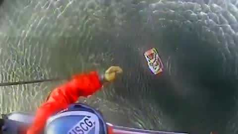 Rescue caught on camera after plane crashes off of California coast