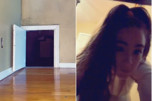 TikToker finds creepy crawl spaces and tunnels in rental home