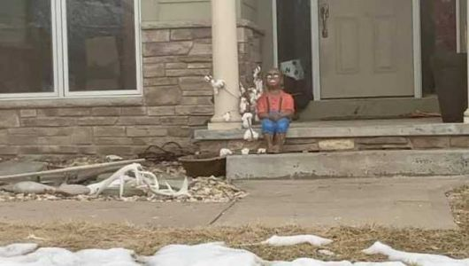 'He made the intent pretty clear': Woman hopes neighbor will remove 'racist statue'