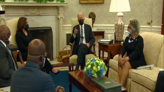 Biden, Harris meet with Congressional Black Caucus about police reform