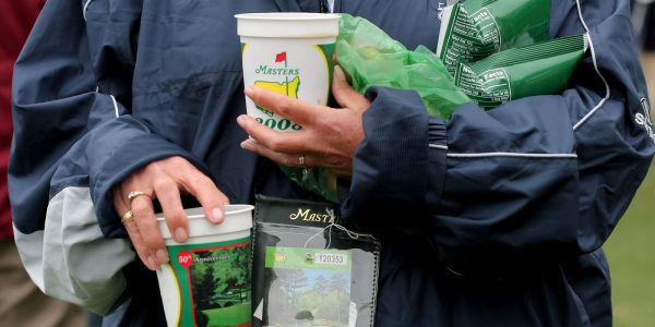 Food at the Masters is so cheap, you could order one of everything, and it would only cost $60
