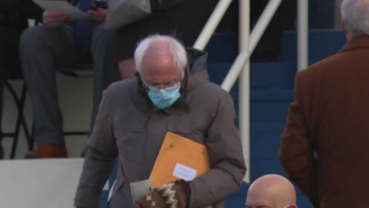 Here's why a chilly Bernie Sanders has been spotted all around Sacramento