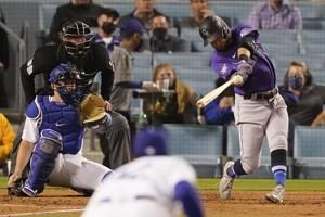 Price earns 1st regular-season save, Dodgers top Rockies 7-5