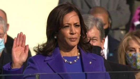 'Testament to our progress': Kamala Harris makes history as first vice president of color
